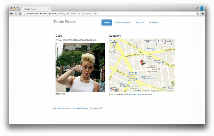 Tinder Online Dating app vulnerability revealed Exact Location of Users