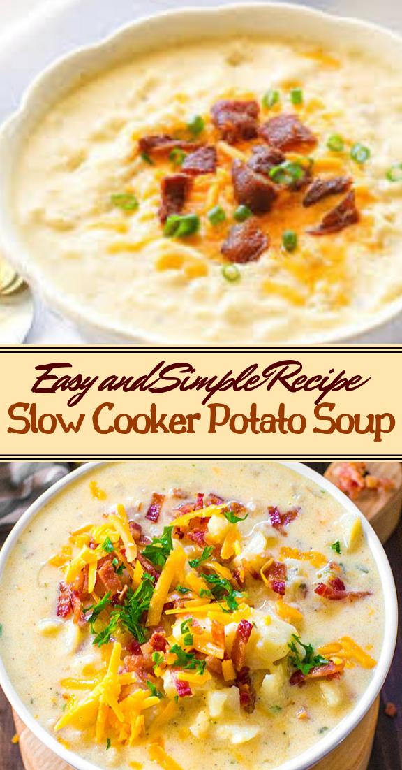 Slow Cooker Potato Soup #healthyfood #dietketo #breakfast #food
