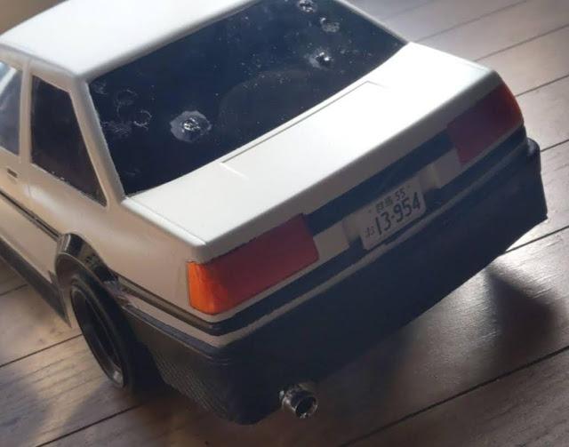 AE86のリアビュー