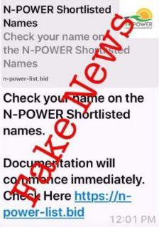 Npower Batch C Shortlist Date, Disregard Fake News 1
