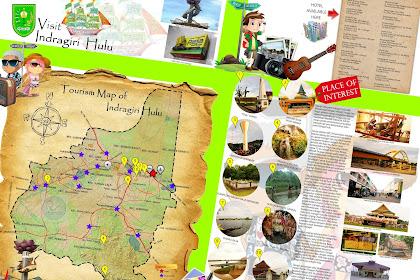 Peta Wisata Kabupaten Indragiri Hulu (Inhu) - Tourism Map of Indragiri Hulu - Riau - Indonesia
