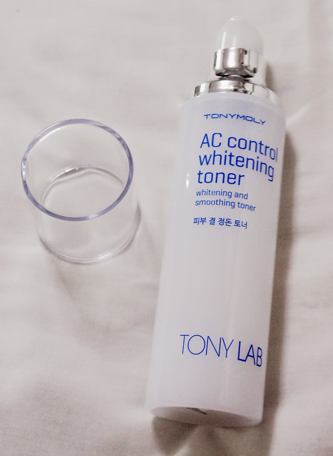 Peachy Pink Sisters Tony Moly Lab Ac Control Whitening Toner Berrianne Cream I Love The Packaging It Looks Very Clean And Classy Pump Makes Dispensing Easy As Well