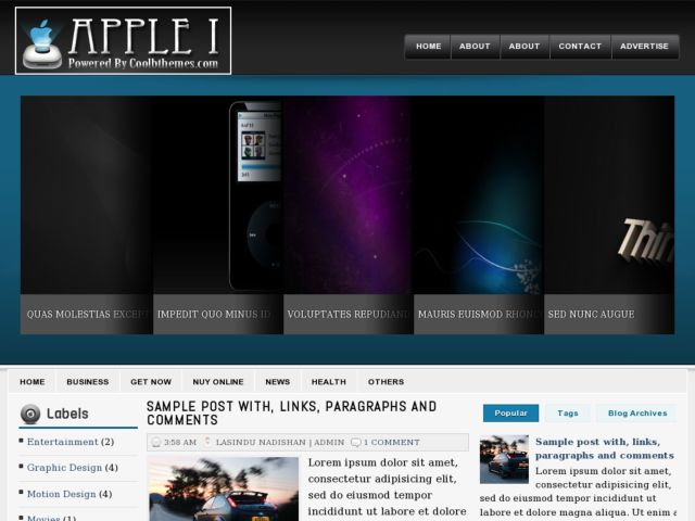 Apple I Blogger Template
