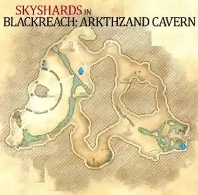Blackreach: Arkthzand Cavern Skyshards Location Map The Elder Scrolls Online (ESO),