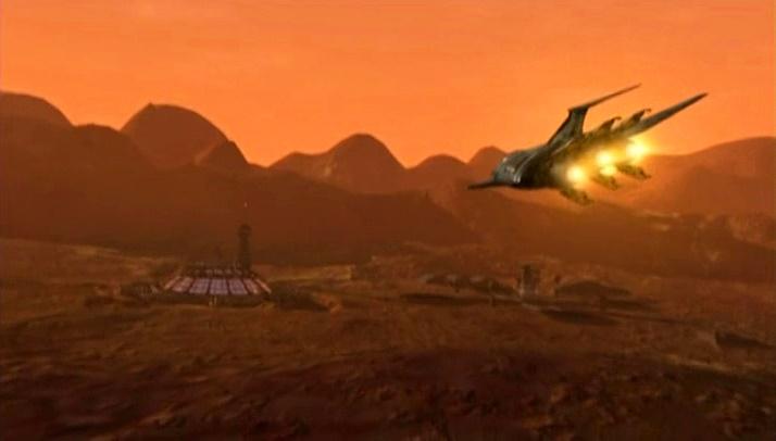 Mars in Babylon 5 - Fort Walters prison in Solis Planum