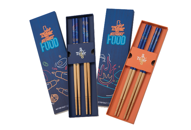 Combo Meals come with a free set of Tiger Street Food chopsticks