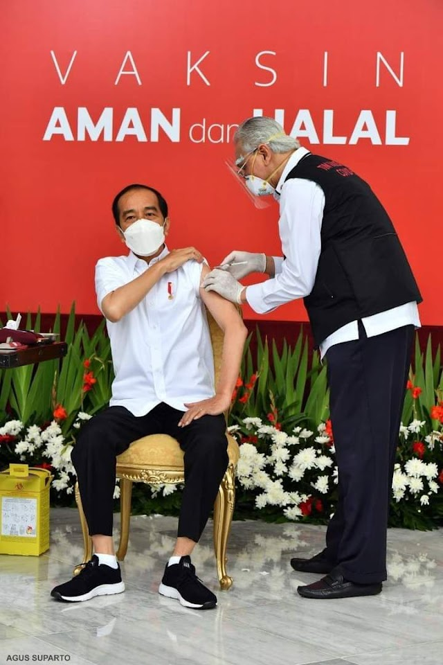 Presiden Jokowi Menjadi Orang Pertama Yang Divaksin Covid-19