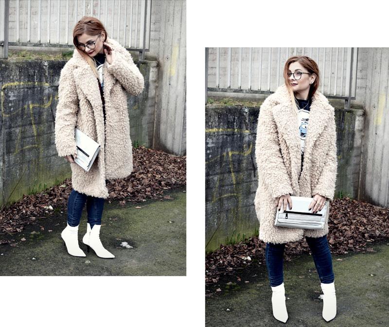 Outfit mit weißen Stiefeletten, weiße Booties stylen