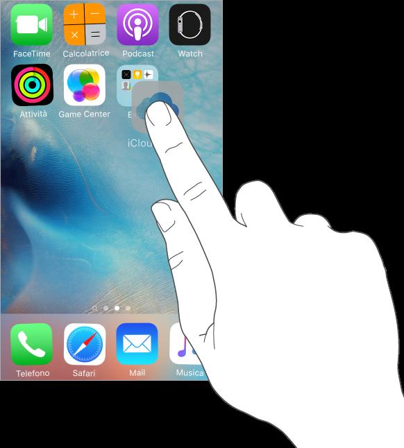 home screen iphone 6s come aggiungere nuova cartella cartelle nome rinominare