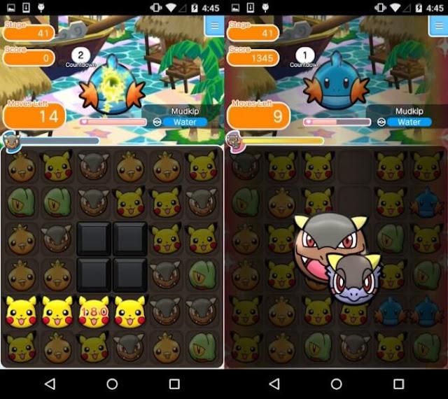 Daftar Game Pokemon Resmi (Buatan Official) Untuk Android - Pokemon Shuffle