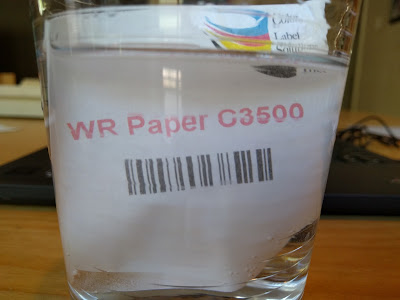 Water Resistant Paper Label
