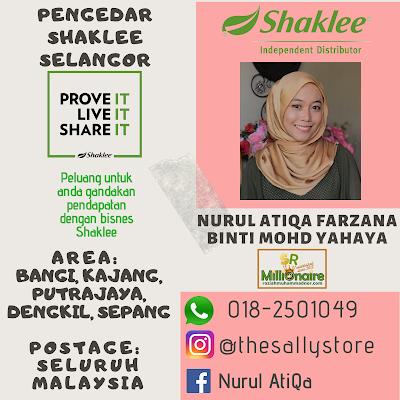 Pengedar Shaklee Putrajaya 0182501049