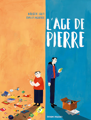 """couverture de """"L'AGE DE PIERRE"""" de Davy Mourier et Heloise Solt chez delcourt"""