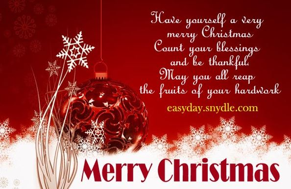 Merry Christmas Messages SMS for Friends and Family