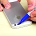 He Draws Over His Phone Camera With A Blue Sharpie. The Reason? I Had No Idea