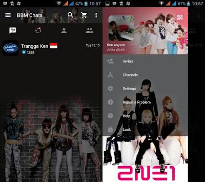BBM MOD 2NE1 Apk 2.12.0.11 Terbaru