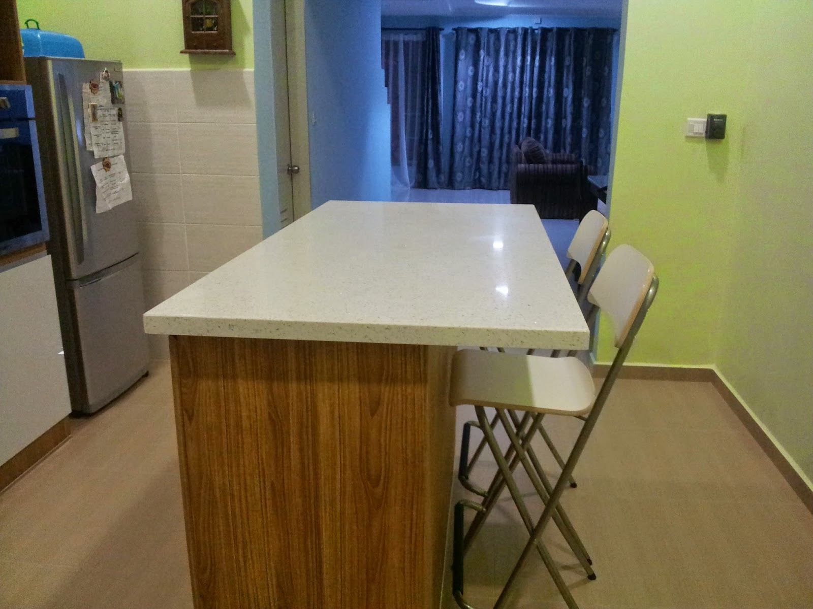 Aku Prefer Pasang Island Kat Tengah Sebab Asalnya Design Nak Letak Dapur Di Sini Lepas Tu Tak Jadi A Buat Dry Kitchen Saja