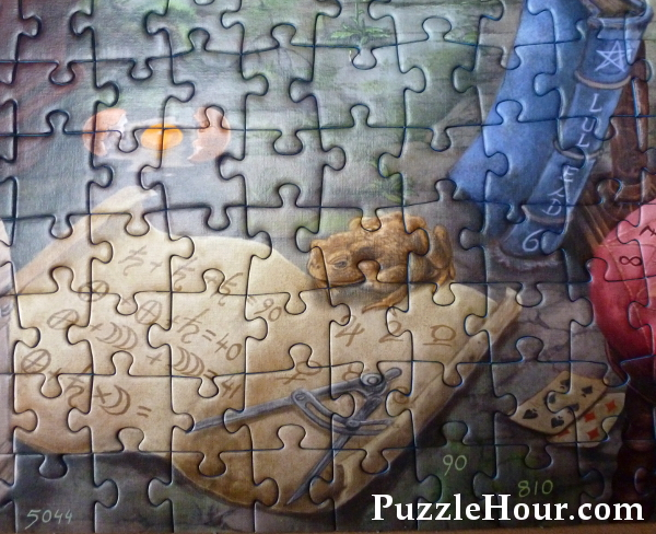 Parchment puzzle mystery the witches kitchen jigsaw puzzle toad frog