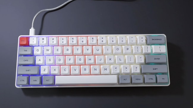 Epomaker Skyloong SK61 Compact Mechanical Keyboard for Programmers and Copywriters.