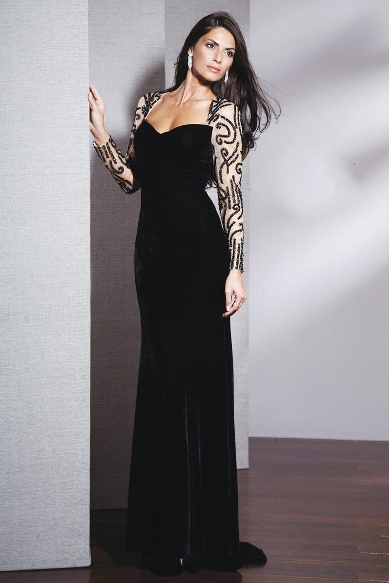 0a6a434a6 صور احدث فساتين سهرة طويل اسود جديد 2017 - The latest long evening dresses  Black New