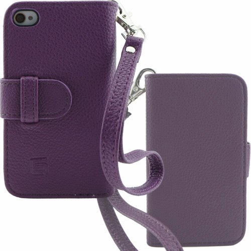 Purple leather stylish iPhone 4/4s wallet case for women