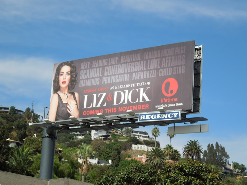 Lindsay Lohan Liz and Dick billboard