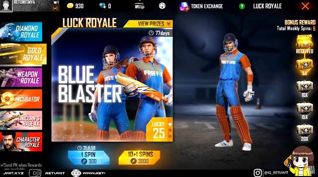 bundle gold royale blue blaster