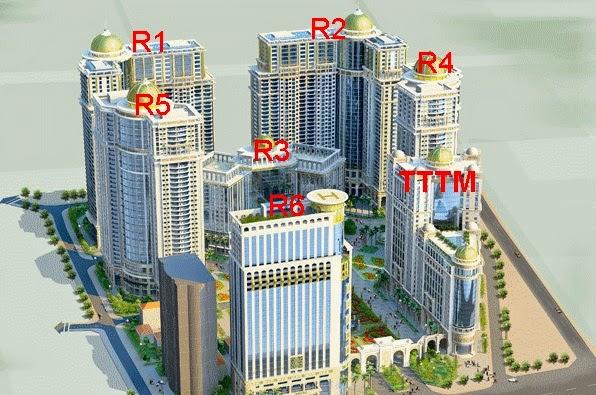 Sơ đồ vị trí tòa R4- Royal City