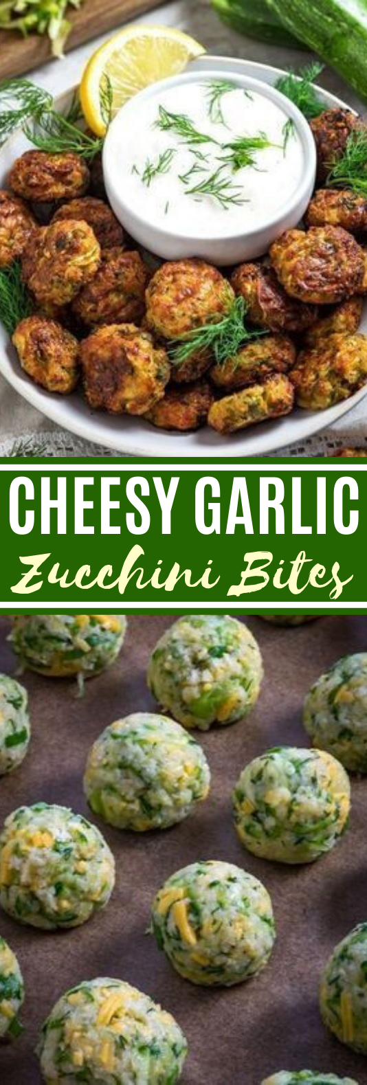 Cheesy Garlic Zucchini Bites #healthy #appetizers #lowcarb #snacks #veggies