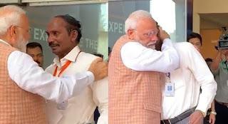 चंद्रयान 2   पीएम मोदी ने इसरो प्रमुख को गले लगाया, जैसे ही वह टूट गया