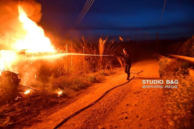 Πυρκαγιά με δυο εστίες στους Μύλους Αργολίδας