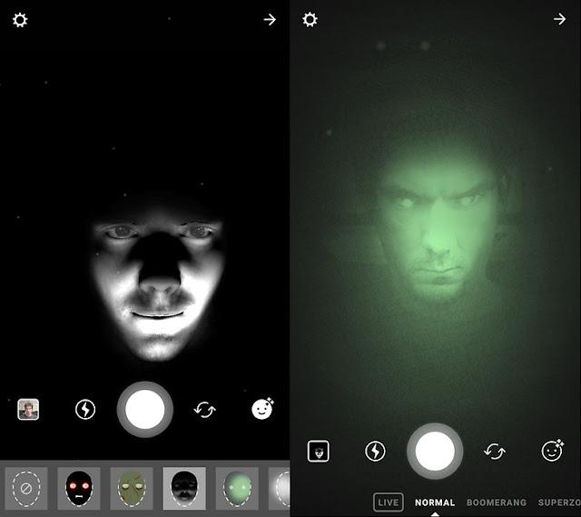 Filter menakutkan muncul selama Halloween