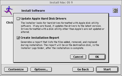 "Supratim Sanyal's Blog: Mac OS 9 installation options: ""Update Apple Hard Disk Drivers"" must be unchecked for SheepShaver"