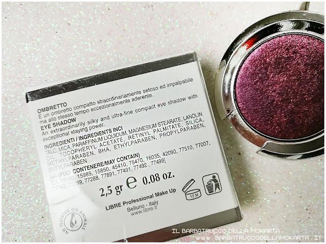 ombretto red black inci libre professional makeup