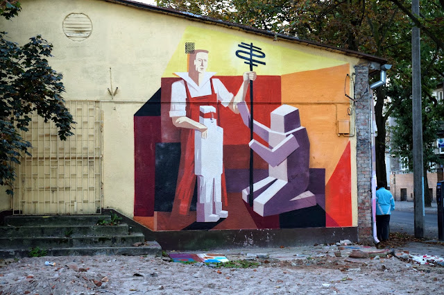 Several New Pieces From Polish Street Artist Jacyndol on the streets of Miechucino & Gdynia, Poland. 1