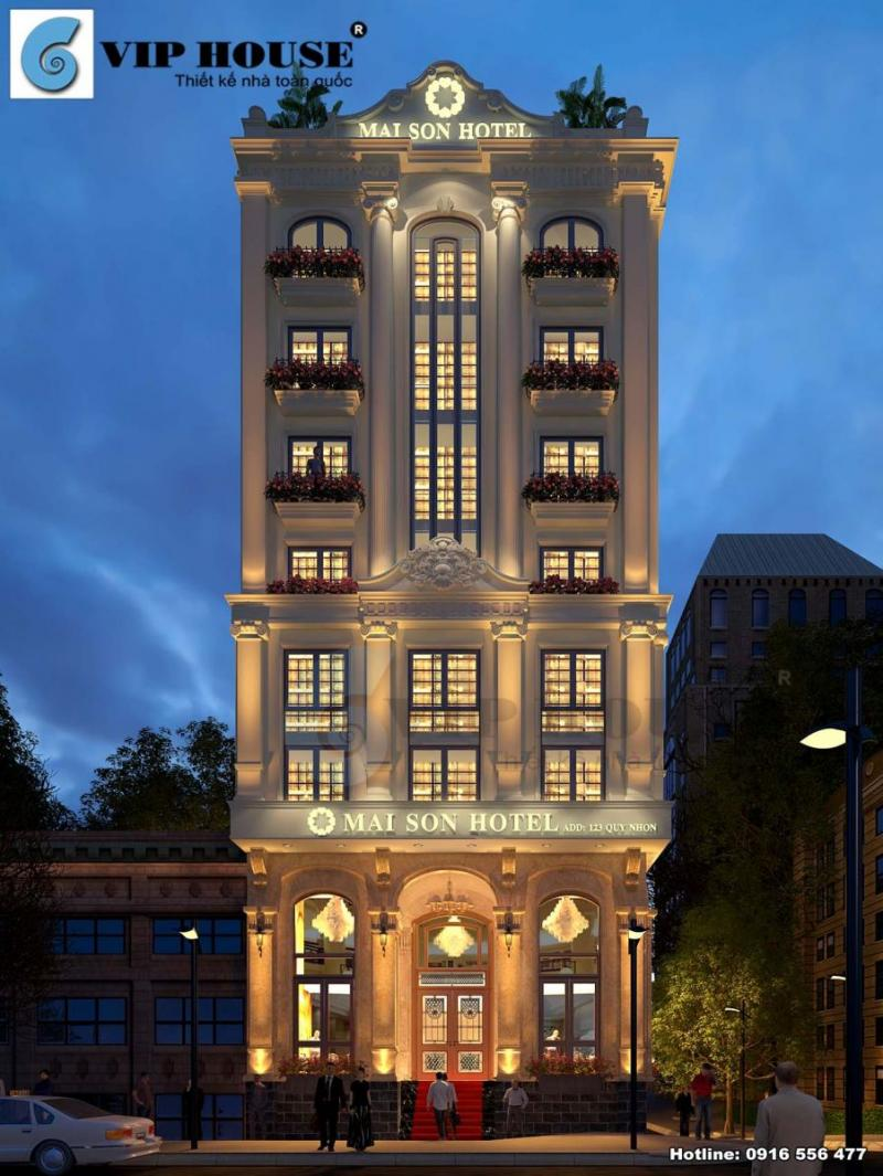 Hình ảnh: Thiết kế ngoại thất khách sạn tân cổ điển đẹp thu hút La MaiSon
