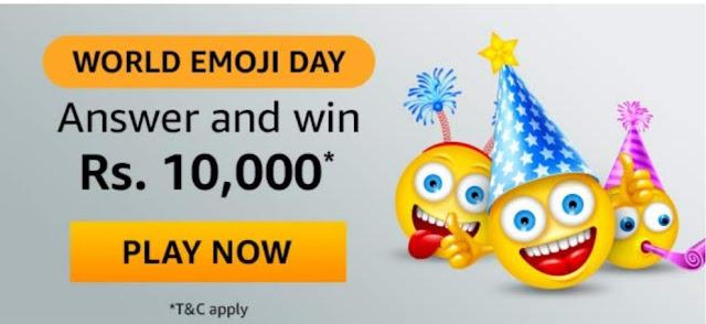 Amazon World Emoji Day Quiz Answer