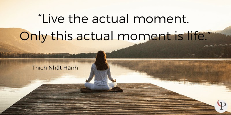 Live the actual moment. Only this actual moment is life. Thich Nhat Hanh