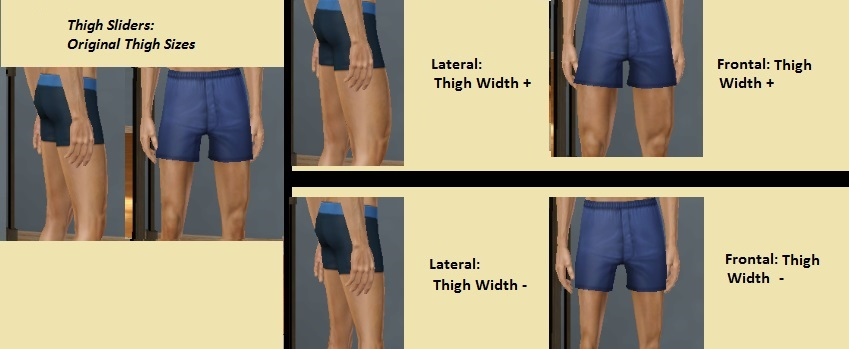 My Sims 3 Blog: Sims Body Essentials: A Complete Set of Body Sliders