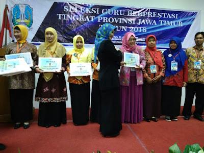 Juara 2 Guru Berprestasi Tingkat Propinsi Jawa Timur