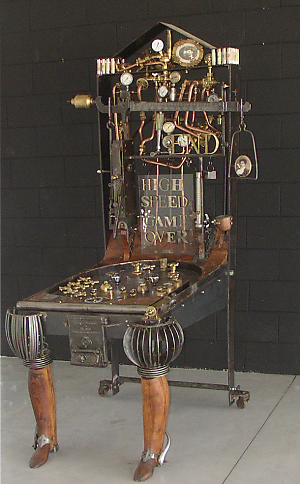 Steampunk Pinball Machine
