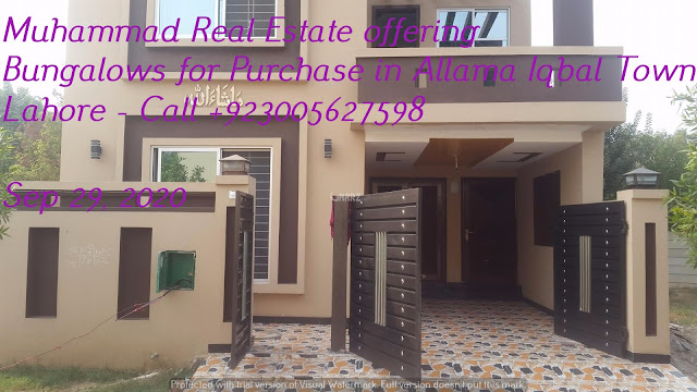 Muhammad Real Estate offering Bungalows for Purchase in Allama Iqbal Town