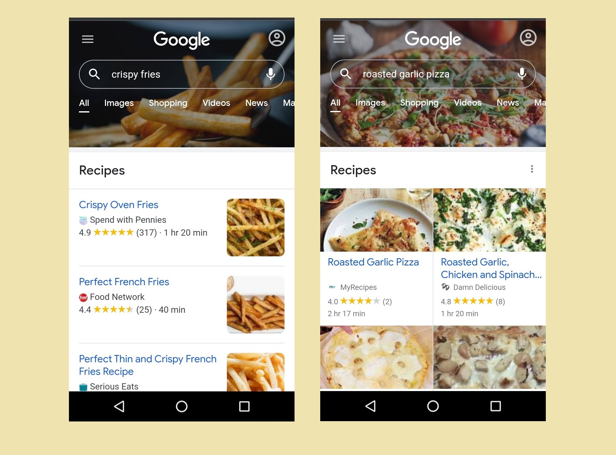 Google is experimenting with custom graphic headers for Mobile Search box based on users searched terms