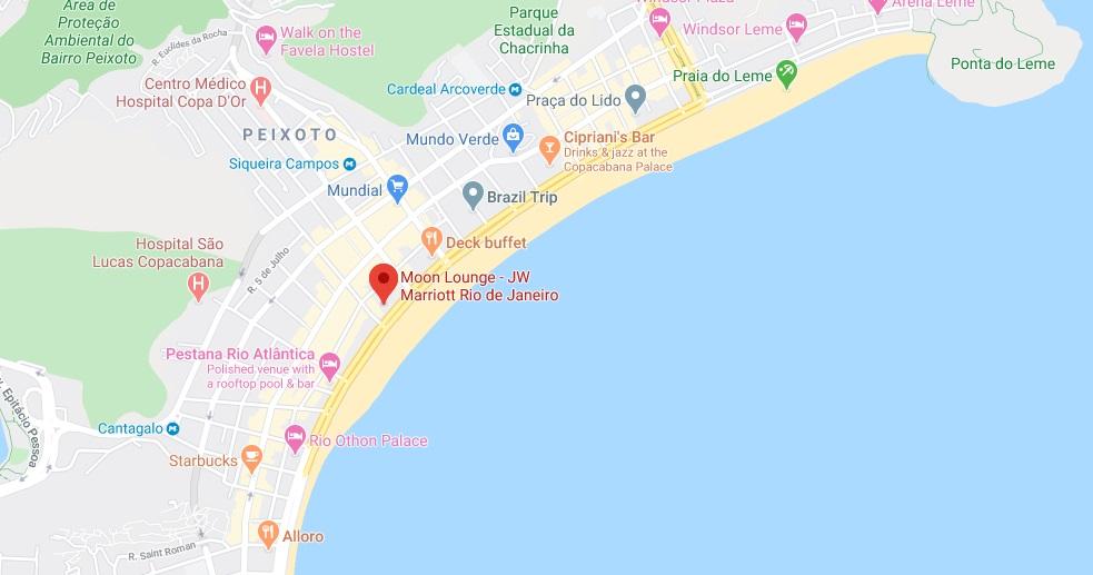 JW Marriott Hotel Rio de Janeiro Copacabana MAP