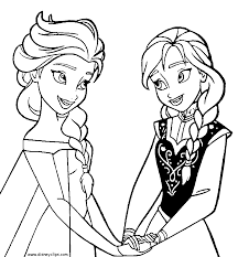 Frozen coloring pages 7