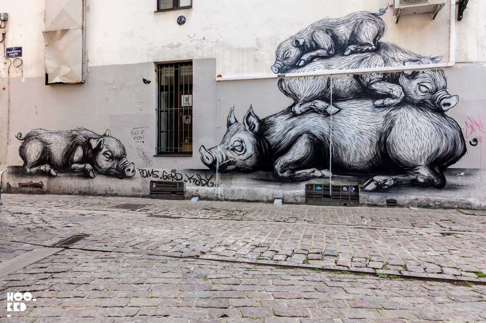 Discover some of the best Brussels Street Art - ROA