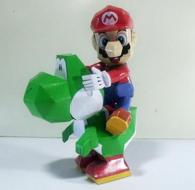 PAPERMAU: Super Mario - Mario, Yoshi & Luigi Paper Toys - by