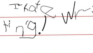 Sign of Sensory Motor Disorder Poor Handwriting