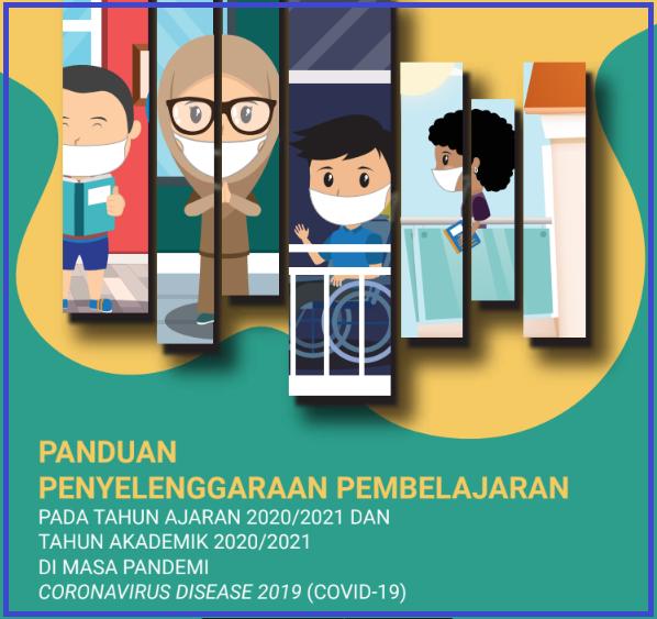 gambar cover buku saku Panduan Pembelajaran 2020/2021