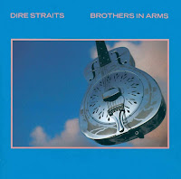 Silver guitar on Brothers in Arms cover
